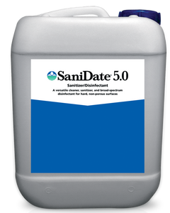 SaniDate 5.0 Kills Plant / Human Pathogens including Coronavirus (Sanitizer / Disinfectant) 2.5 Gallons