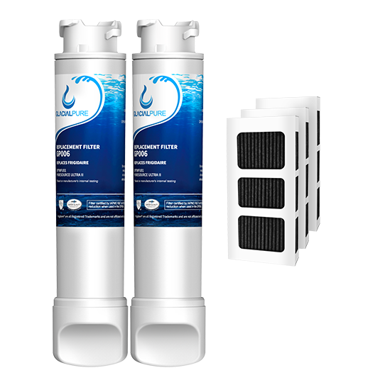 EPTWFU01 Refrigerator Water Filter Combo With PAULTRA Air Filter by GlacialPure 2Pack