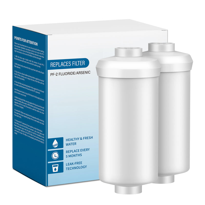 MoreFilter Replacement Water Filter for PF-2 Berkey Fluoride System, 2Pack