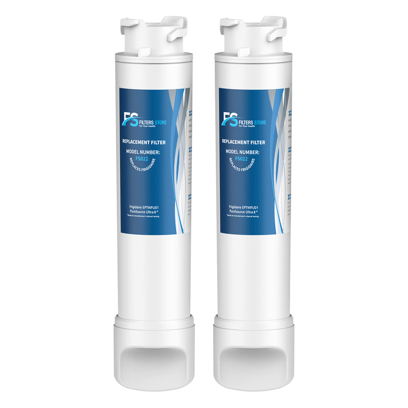 FS Replacement for EPTWFU01, ULTRA II, EWF02 Refrigerator Water Filter, 2 Packs
