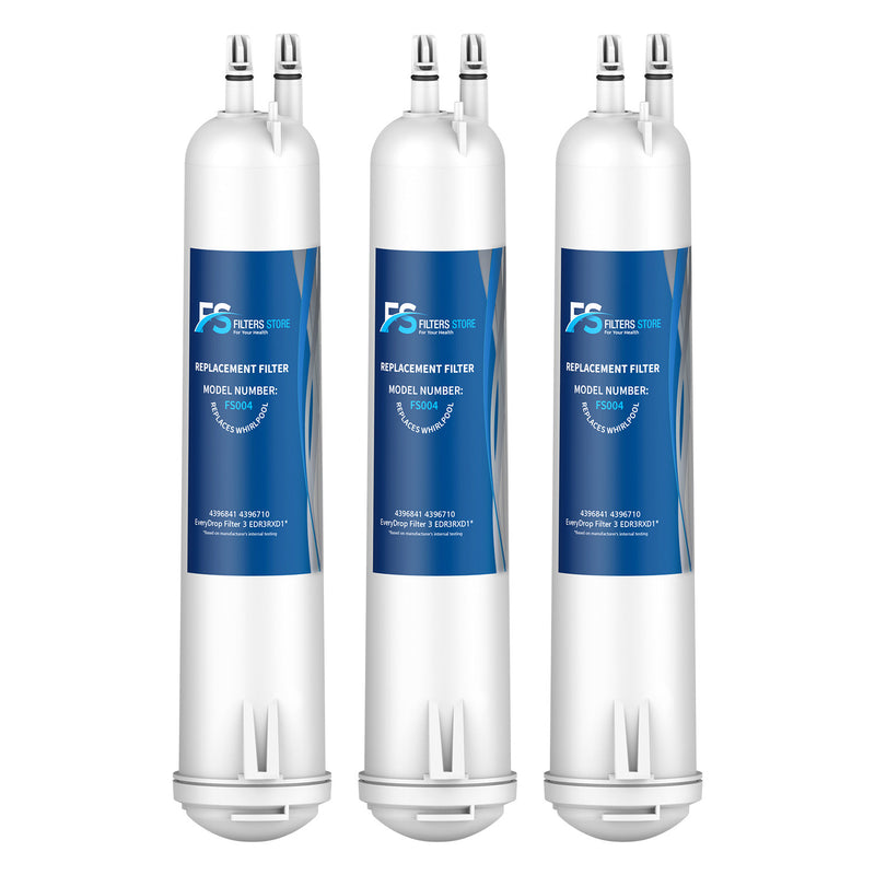 FS Replacement for EDR3RXD1, 4396841, Filter 3 & 46-9083 Refrigerator Water Filter, 3 Packs