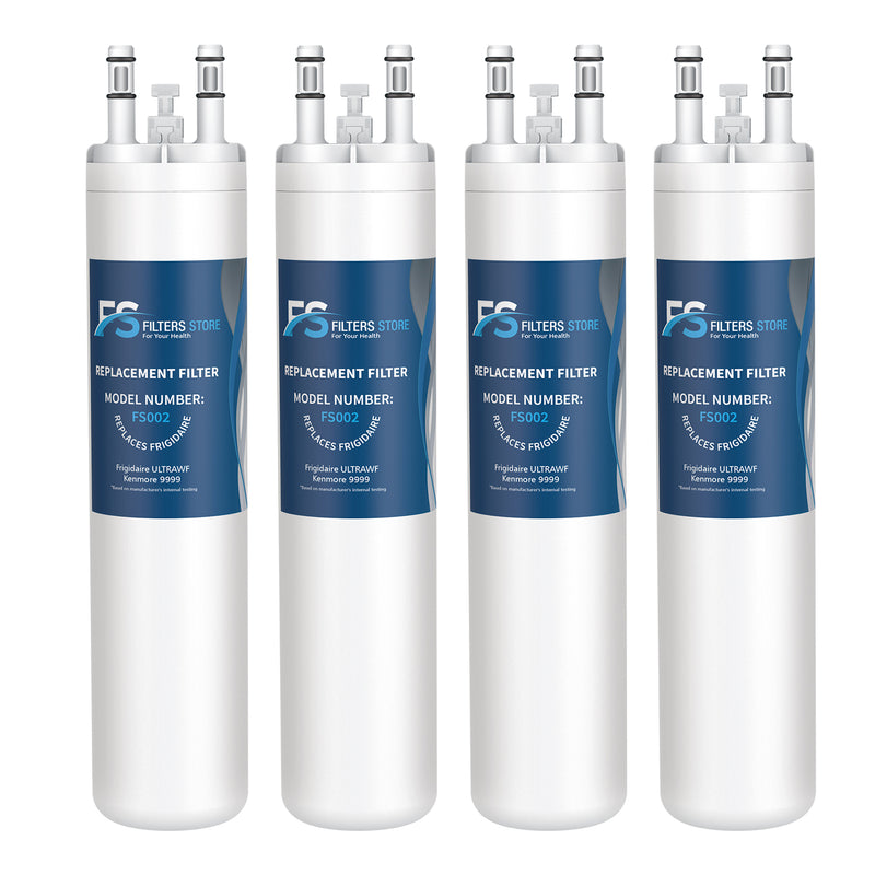 FS Replacement for PureSource Ultrawf, 46-9999, PS2364646 Refrigerator Water Filter, 4 Packs