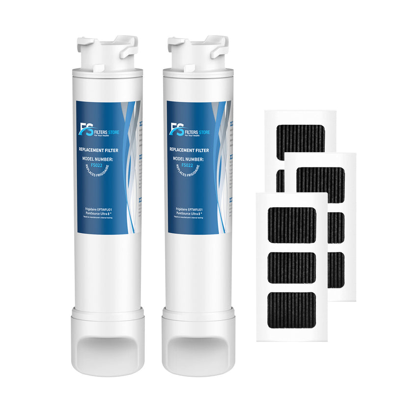 Frigidaire EPTWFU01 Water Filter with Air Filter Refrigerator by FS 2Pack