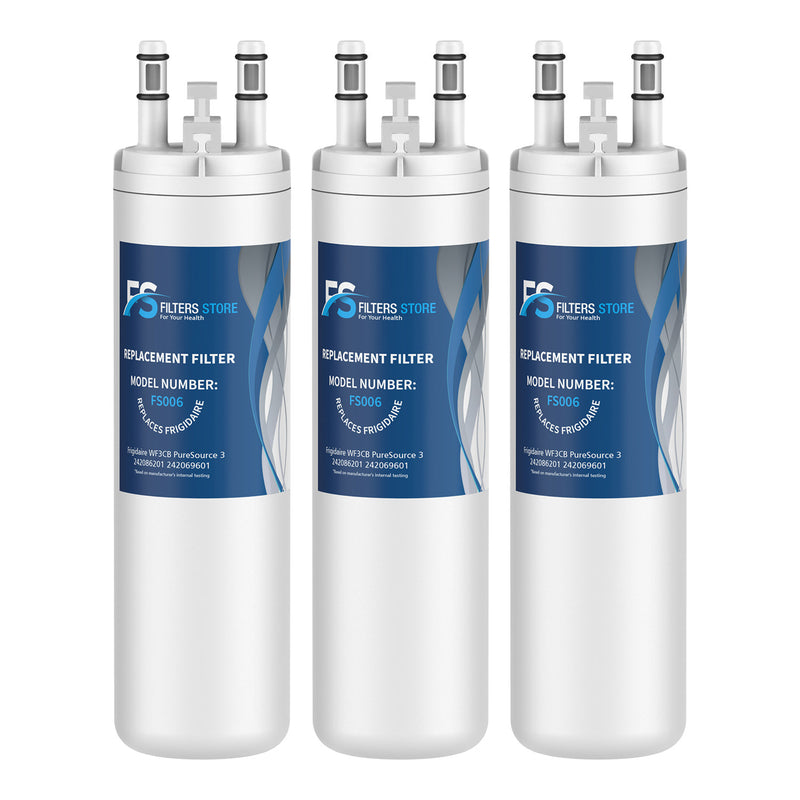 FS Replacement for PureSource WF3CB, PureSource 3, AP4567491 Refrigerator Water Filter, 3 Packs