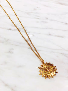 Gold Compass pendant