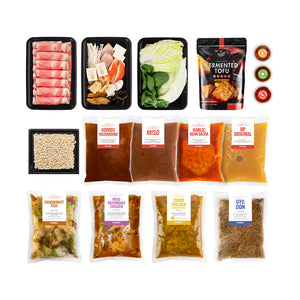 Hot Pot Kit: Broths and Instant Packs Combo