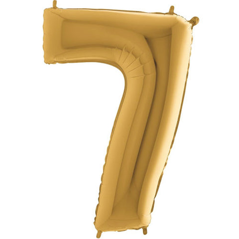 40 inch Gold Number 7 Foil Balloon