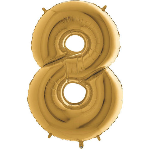 40 inch Gold Number 8 Foil Balloon