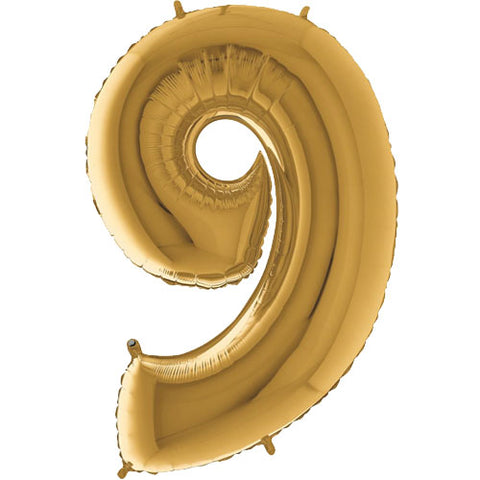 40 inch Gold Number 9 Foil Balloon