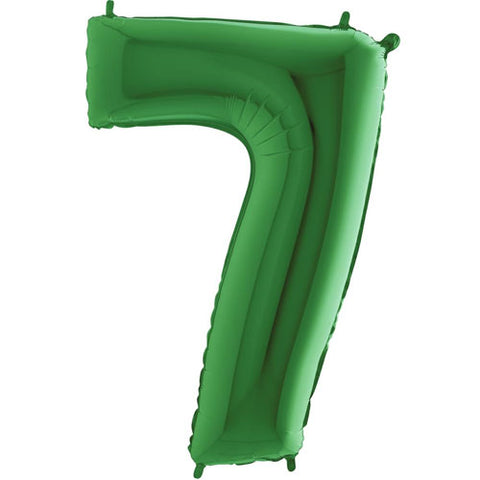 40 inch Green Number 7 Foil Balloon