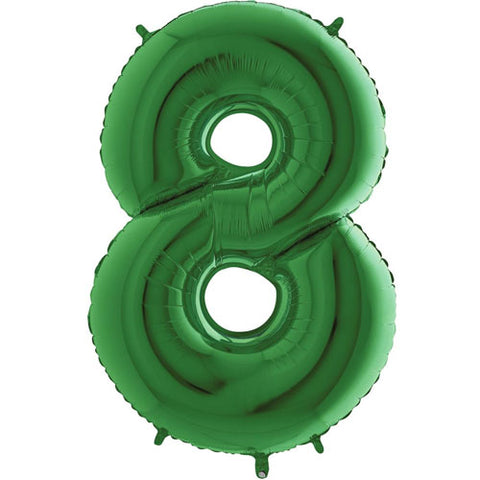 40 inch Green Number 8 Foil Balloon