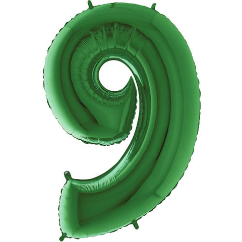 40 inch Green Number 9 Foil Balloon