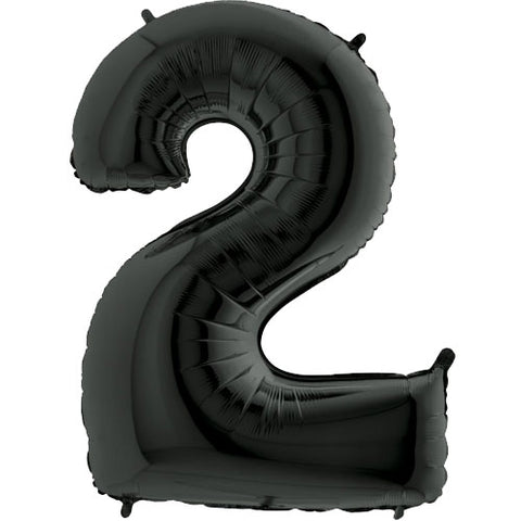 40 inch Black Number 2 Foil Balloon