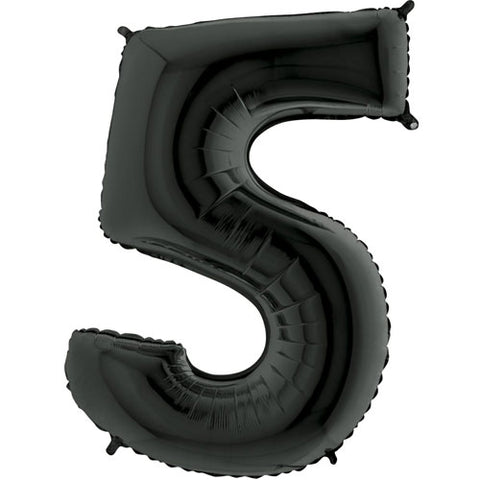 40 inch Black Number 5 Foil Balloon