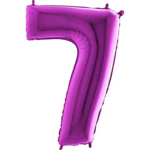40 inch Purple Number 7 Foil Balloon