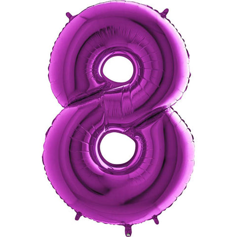 40 inch Purple Number 8 Foil Balloon
