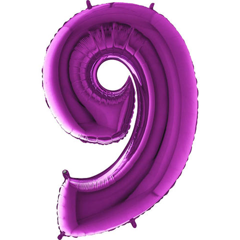 40 inch Purple Number 9 Foil Balloon