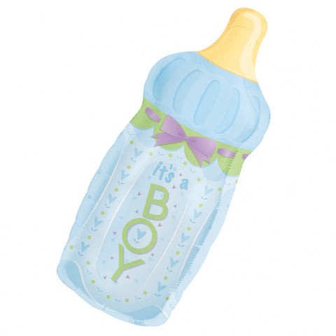 31 inch Baby Boy Bottle Supershape Foil Balloon