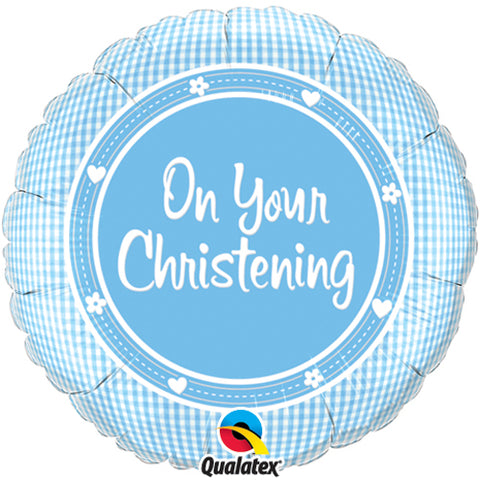 18 inch On Your Christening Boy Foil Balloon