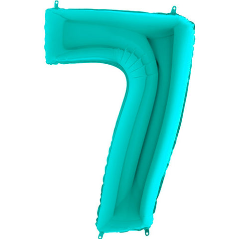 40 inch Tiffany Blue Number 7 Foil Balloon