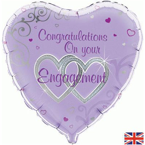 18 inch Congratulations On Your Engagement Foil Balloon