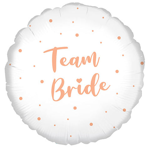 18 inch Team Bride Rose Gold Dots Foil Balloon
