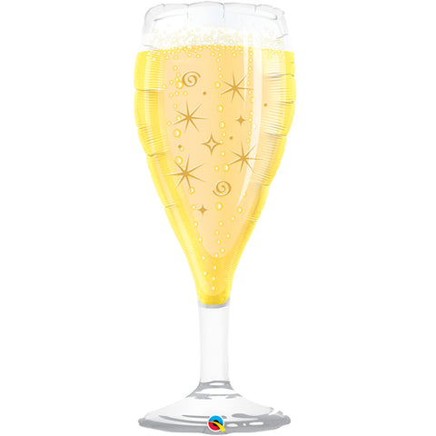 39 inch Champagne Glass Foil Balloon