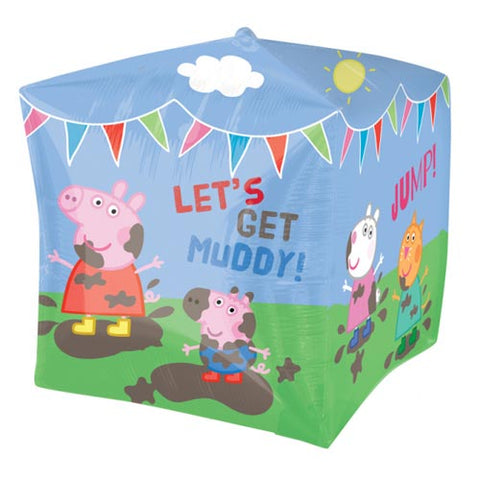 15 inch Cubez Peppa Pig & Friends Foil Balloon