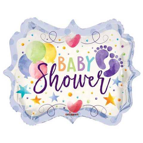18 inch Baby Shower Colourful Marquee Foil Balloon