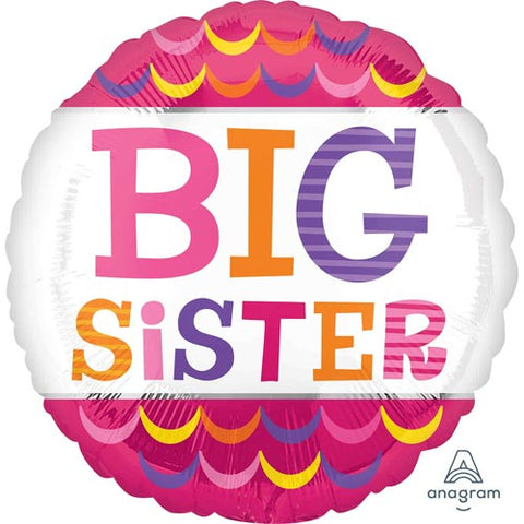 18 inch Big Sister Scallops Foil Balloon