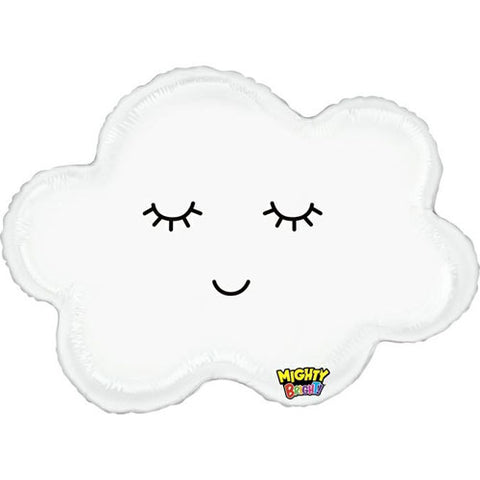 30 inch Smiley Cloud Foil Balloon