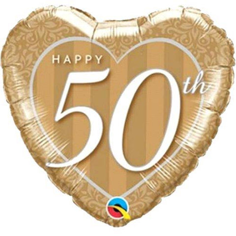 18 inch Cheers to 50 Years Anniversary Foil Balloon