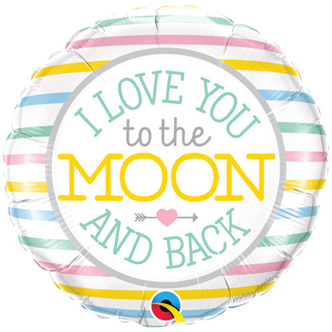 18 inch I Love You To The Moon Foil Balloon