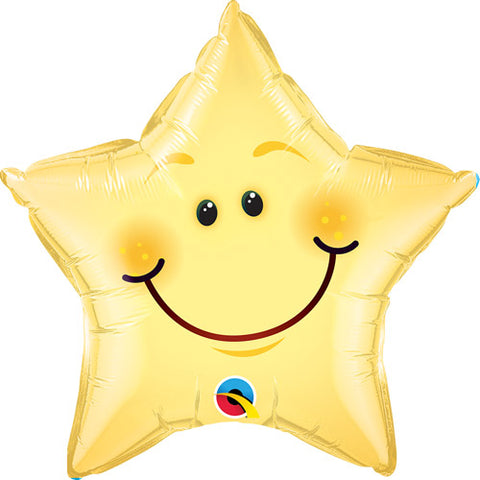 20 inch Smiley Face Star Foil Balloon