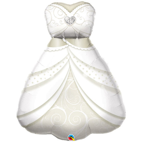 38 inch Bride\'s Wedding Dress Foil Balloon