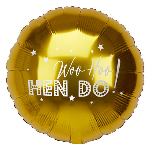 18 inch Woo Hoo Hen Do Foil Balloon