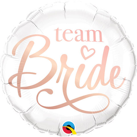 18 inch Team Bride White Foil Balloon