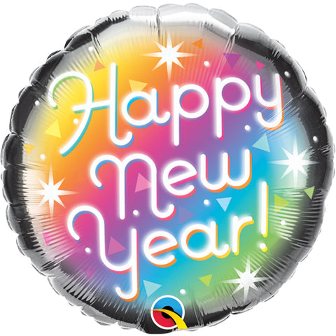 18 inch New Year Prismatic Foil Balloon