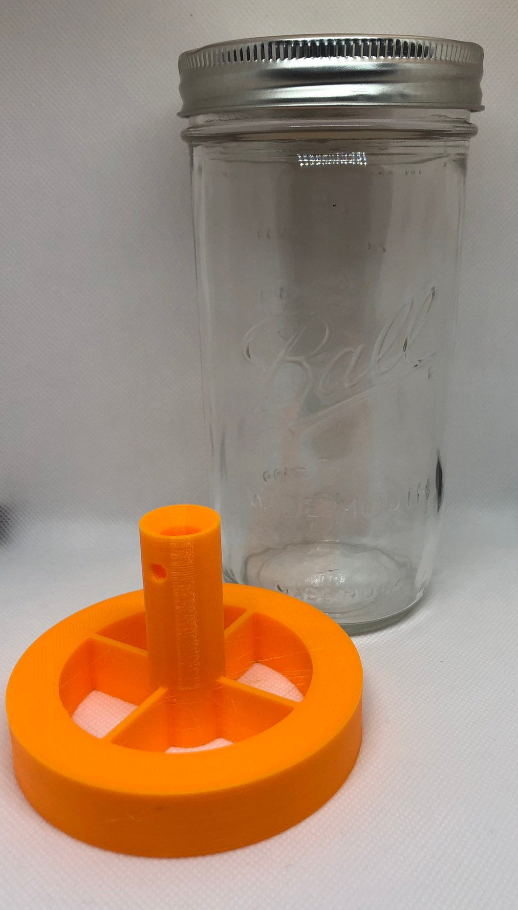24oz (wide mouth) mason jar threaded insert