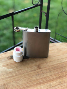 Hip flask threaded insert