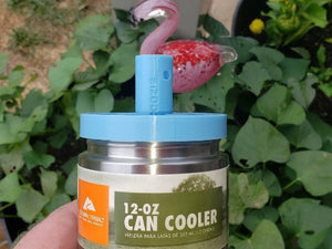 12-oz Can Cooler threaded top for tumbler turner