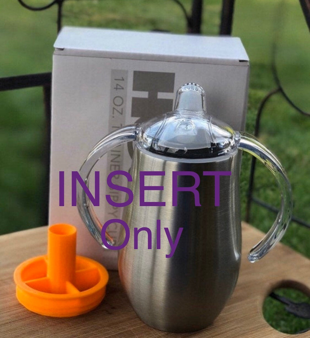 INSERT!!! Fits the Hogg 8oz and 14oz sippy cup trainer. does not include trainer cup!! Insert only!!