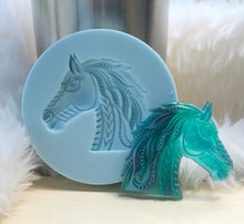 Load image into Gallery viewer, Aztec inspired horse 3D dimensional mold
