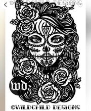 Load image into Gallery viewer, Rosa Lucia sugar skull