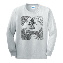 QMHS Tee Shirt - Grey Heather LS