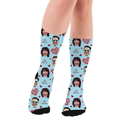 Couple Face Socks, Anniversary Face Socks, Anniversary Socks Gift