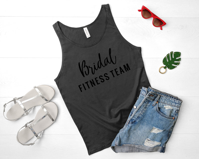 bridal fitness team tank top