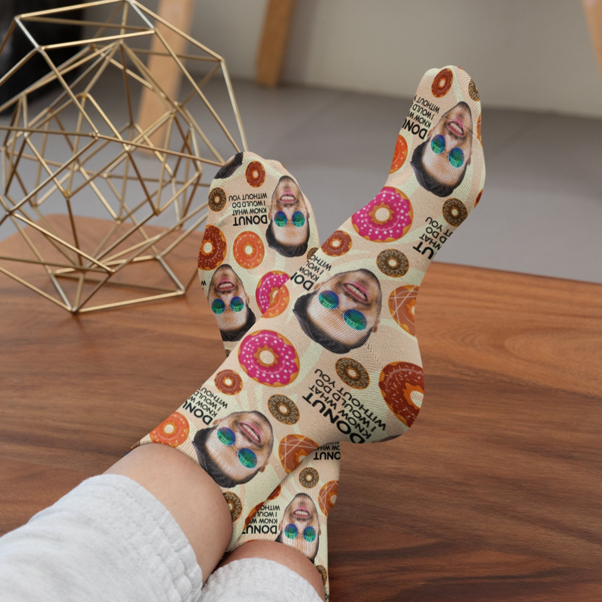 Custom Face Socks - Donuts Socks