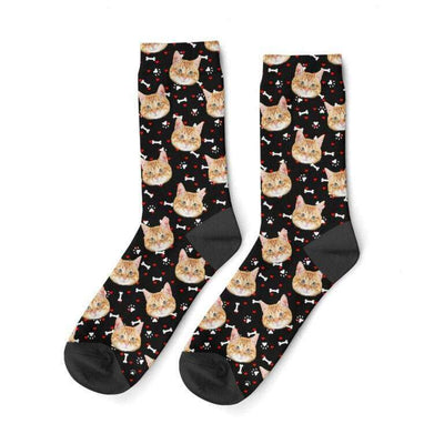 Cat Face Socks - Custom Cat Socks