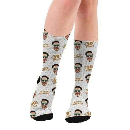 Personalized 30th Birthday Gift Photo Socks